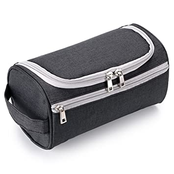 Image not available for. Colour  IGNPION Men s Travel Toilet Wash Bag  Grooming Kit Makeup Pouch Water Resistant Toiletry Organiser with Hanging 0aefa61b35