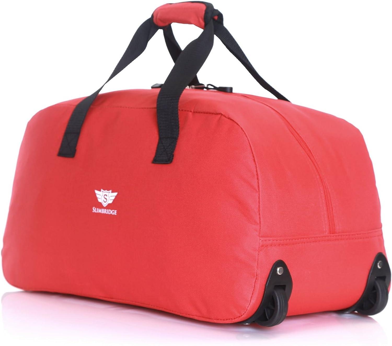 Dynamic24 Leonardo Canvas Trolley Tasche 47L Sporttasche Reisetasche Koffer Handgep/äck Boardtrolley