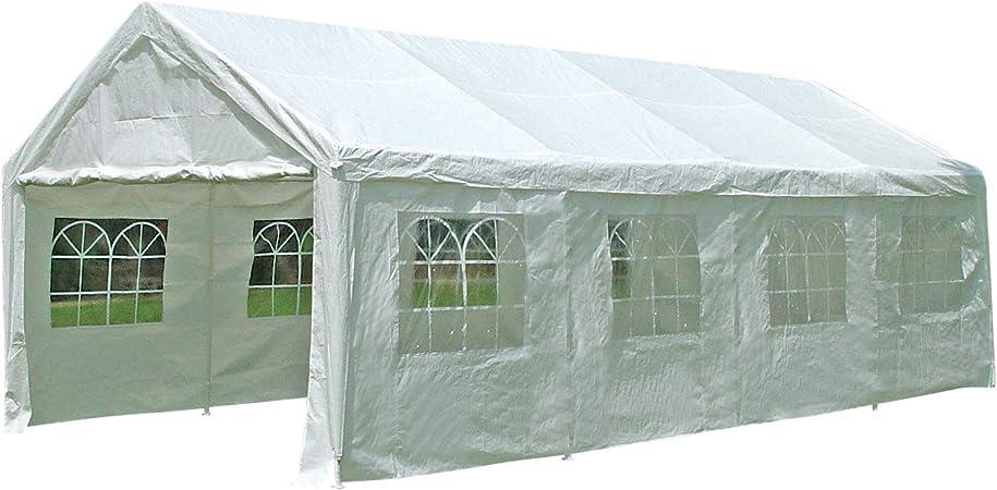 Amazon De Degamo Partyzelt Pavillon Festzelt 4x8m Planen Pe