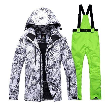 Zjsjacket Chaqueta de esqui -30 Hombres Snow Custome conjuntos de snowboard especiales Ropa impermeable a