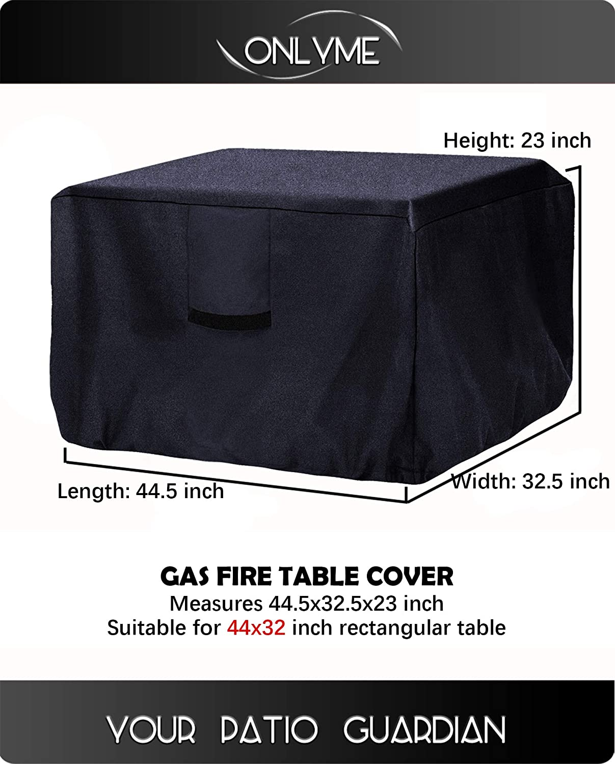 x48 Onlyme Patio Clay Chiminea Cover Waterproof Chimenea Cover 18 Outdoor Fire Pit Cover Dia H