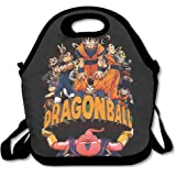 DSYBTV Lunch Bag Dragon Ball Z Lunch Tote Lunch Box For Women Men Kids With Adjustable Strap