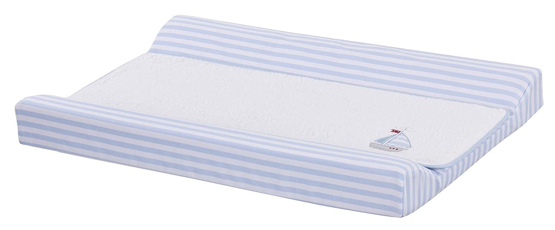 Cambiador bebe interior plastificado Bordado BARQUITO VELERO. Color Azul. Desenfundable. Medida 80x53 cm. Válido para cómodas, bañeras y convertibles. KOKETES