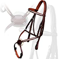 Runners Comfort Crown Piece Stainless Steel Clincher Studded Browband and Figure 8 Bridle with Rubber Reins | Royal English Bridle for Horses