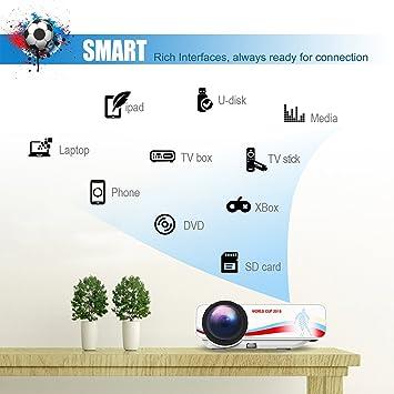Mini Proyector BeamerKing, Portable de Tema del Fútbol LED Vídeo ...