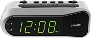 Sharp Digital Alarm Clock - Ascending Alarm Begins Faintly and Grows Increasing Louder, Gentle Wake Up Experience, Dual Alarm - Battery Back-up, Easy to Use with Simple Operation