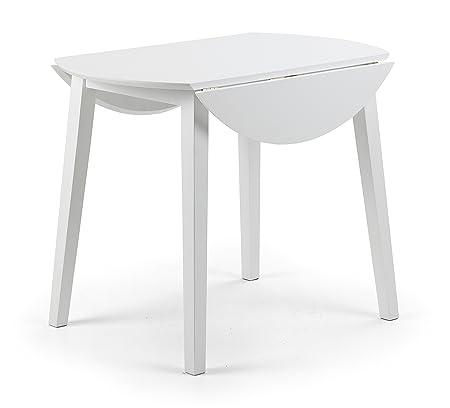 White Drop Leaf Kitchen Table Julian bowen coast white drop leaf table wood amazon julian bowen coast white drop leaf table wood workwithnaturefo