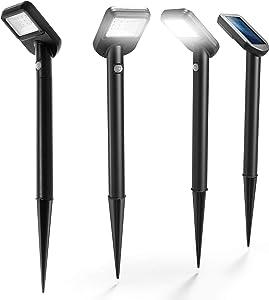 Home Zone Security Solar Path Lights - Intelligent Solar Linkable Motion Sensor Solar Pathway Lights, 4-Pack
