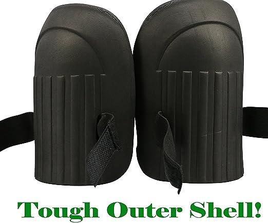 Rodilleras: jardín suave EVA espuma de trabajo cama individual con correa de Velcro y comfymax forro (negro): Amazon.es: Hogar