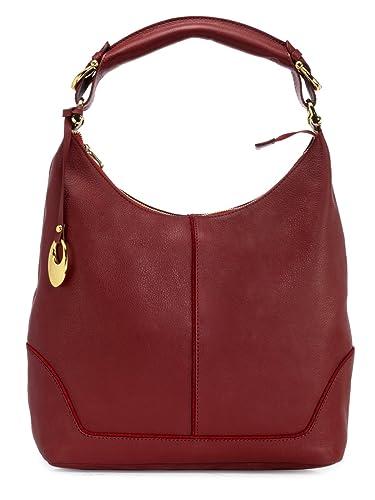 Amazon.com  Phive Rivers Women s Leather Hobo Bag (Red f5e9e98783e86
