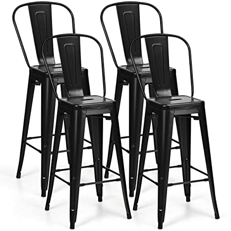 Terrific Amazon Com Ayamastro Metal 17Inch Black 4Piecs Bar Stool Uwap Interior Chair Design Uwaporg
