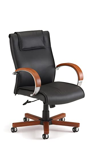 Amazon.com: OFM Apex Mid-Back Executive Leather Chair - Mid Back ...