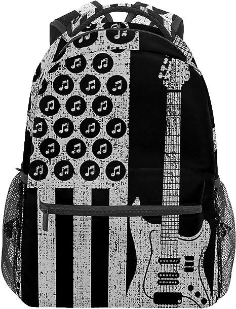 Mochila escolar vintage bajo eléctrico guitarra USA