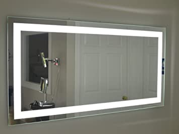 mirror 36 x 72. lighted vanity mirror led mam87236 commercial grade 72\u0026quot; wide x 36 72 7