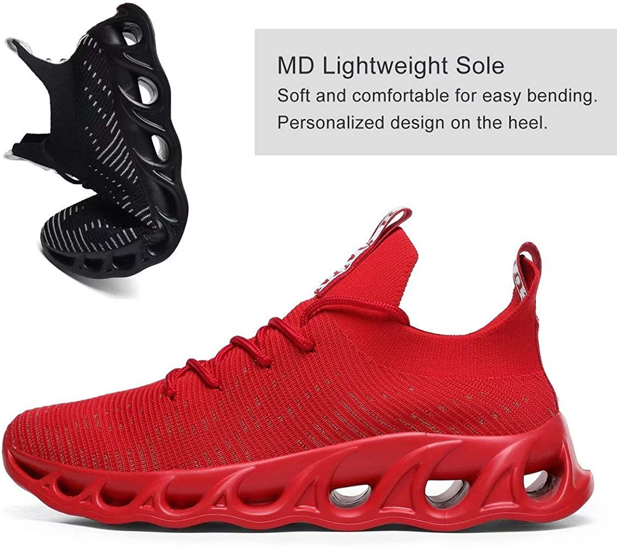 Wrezatro Shoes Running Men Lightweight Casual Walking Breathable Gym Workout Athletic Tennis Sneakers