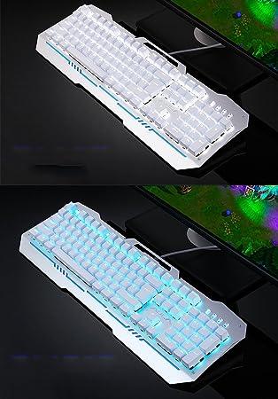 Teclado Teclado mecánico, Juego de luz de Fondo, Blue Axis, Notebook, Gaming Equipment, Home Office Teclado (Color : Blanco): Amazon.es: Electrónica