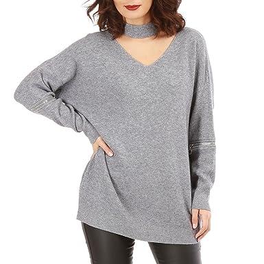 La Modeuse - Pull en Maille légère  Amazon.fr  Vêtements et accessoires 55f65169f8b8