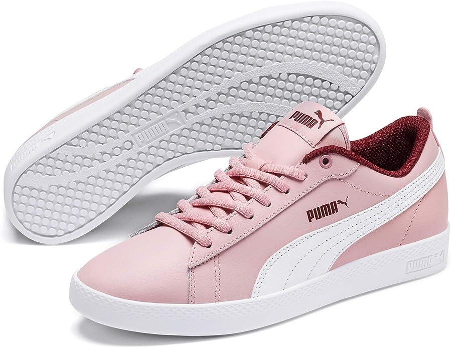 Puma Smash V2 Sneakers Damen Rosa mit weißen Streifen (Bridal Rose)
