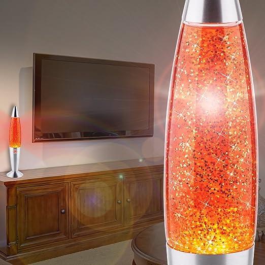 MIA Light Glitter ↥347mm// Kinder// Retro// Gelb// Lampe Glitterlampe Glitterleuchte