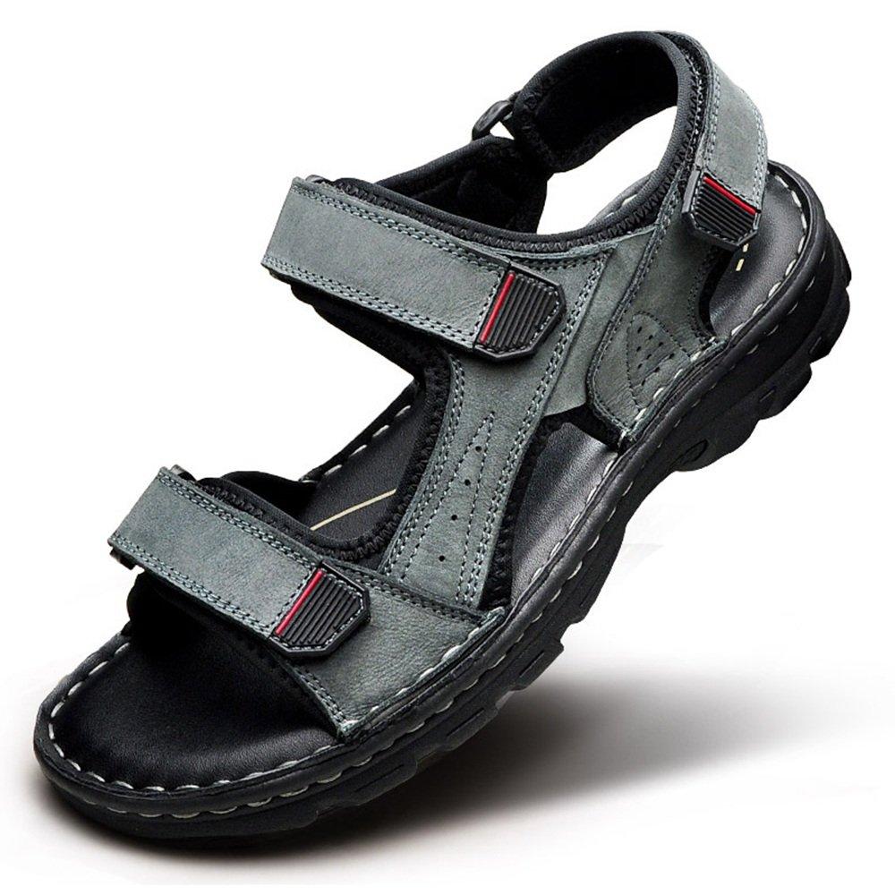 HUO Sandals Sandalias De Verano Al Aire Libre Masculina Movimiento Casual Playa Zapatos Moda Suave Zapatillas Inferiores EU39/UK6.5/CN40|Gris