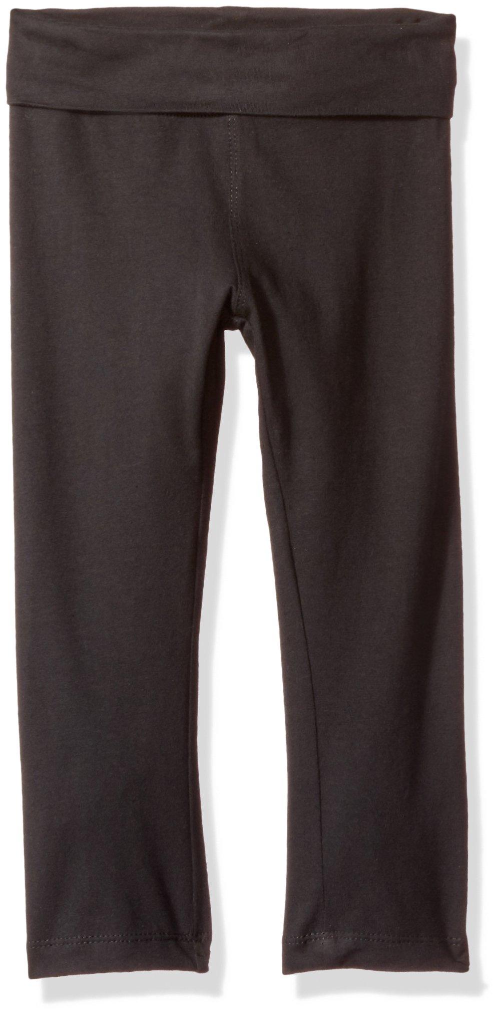 Clementine Apparel Big Girls' Yoga Pants, Black, 10