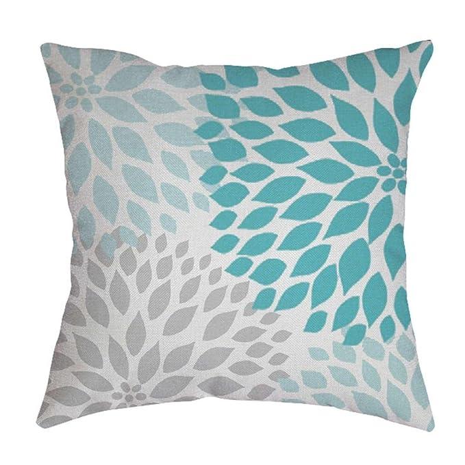 Amazon.com: BoomBoom fundas de almohada, hojas algodón lino ...