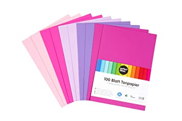 Perfect Ideaz 100 Blatt Buntes Din A4 Ton Papier Zeichen Papier