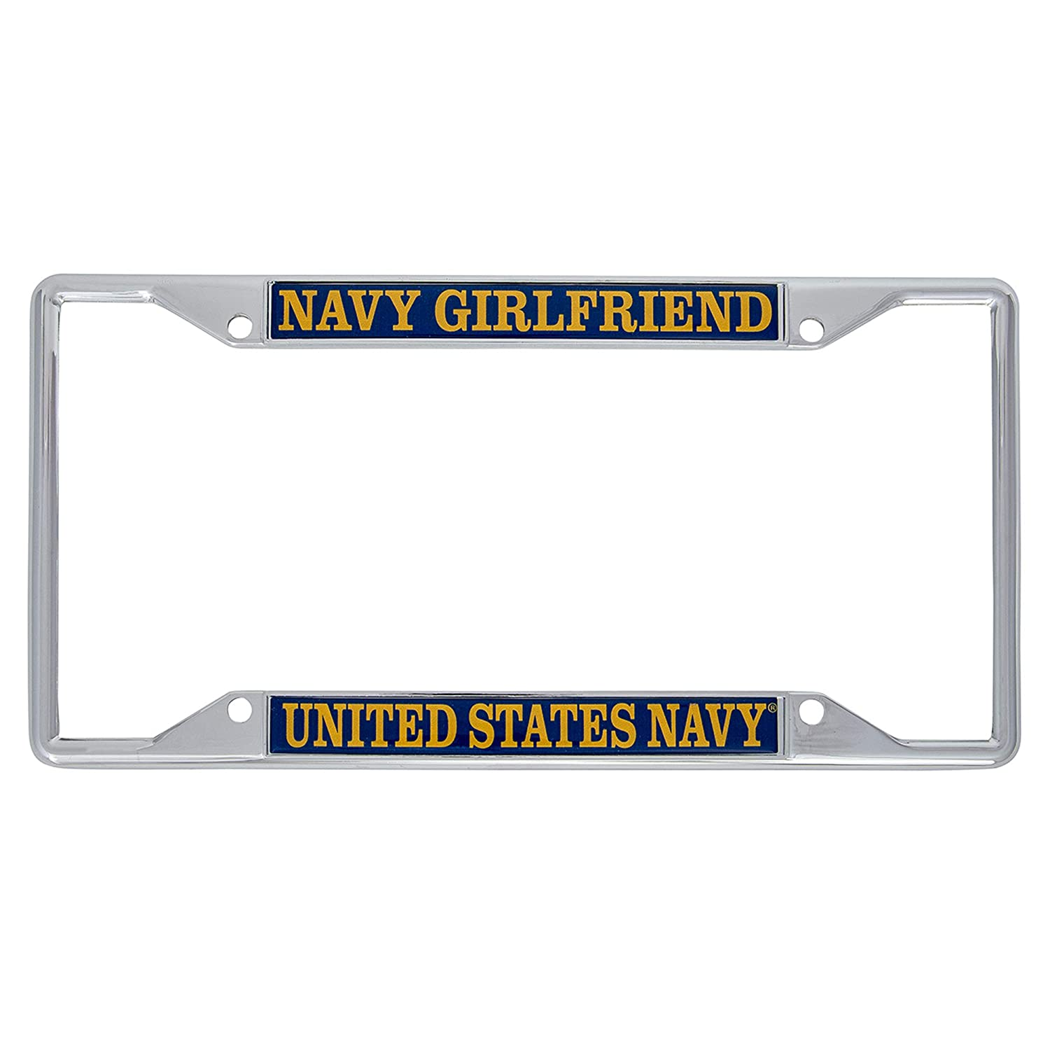 Desert Cactus US Navy Girlfriend License Plate Frame for Front Back of Car Officially Licensed United States