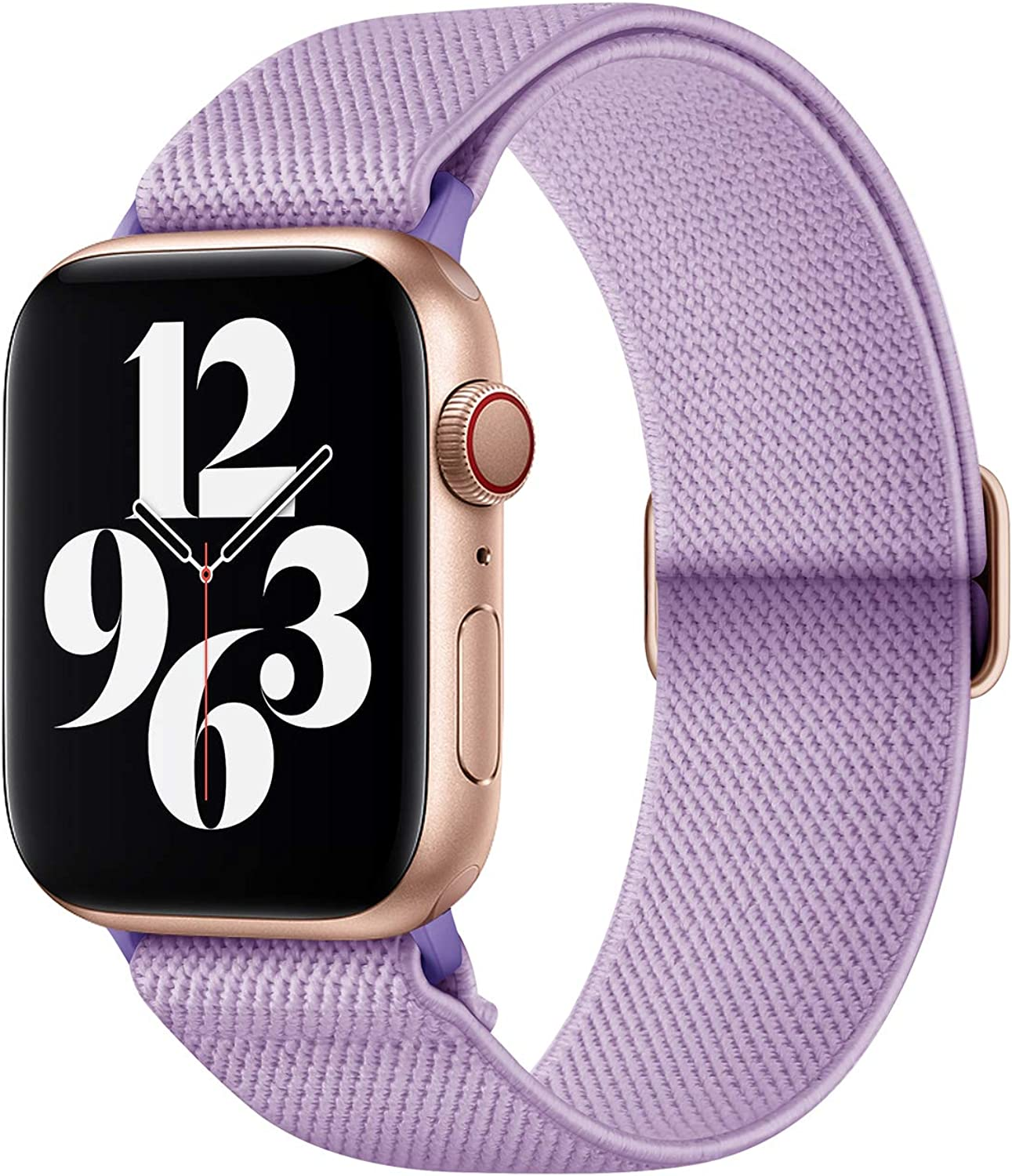 AMANECER Stretchy Nylon Watch Bands Compatible with Apple Watch Series 6/5/4/3/2/1 SE, Adjustable Braided Sport Elastic Solo Loop Bands for iWatch