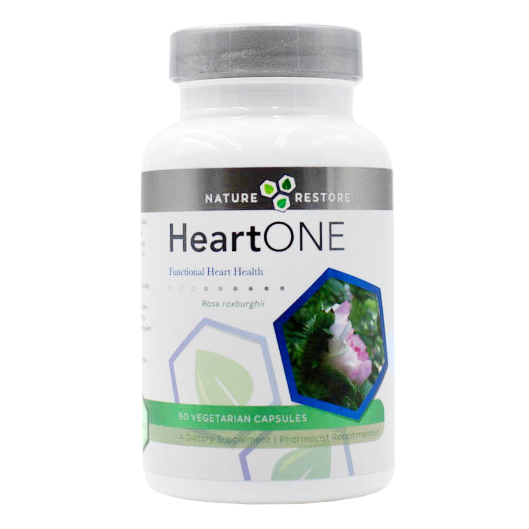 HeartOne, Heart Health Supplement for Treating High LDL Cholesterol and High Tryglycerides and Supporting Better HDL Cholesterol, 60 Vegan Capsules, Non GMO, Gluten Free by Nature Restore