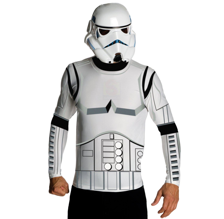 NEU Herren-Kostüm Stormtrooper Shirt & Maske Gr. L