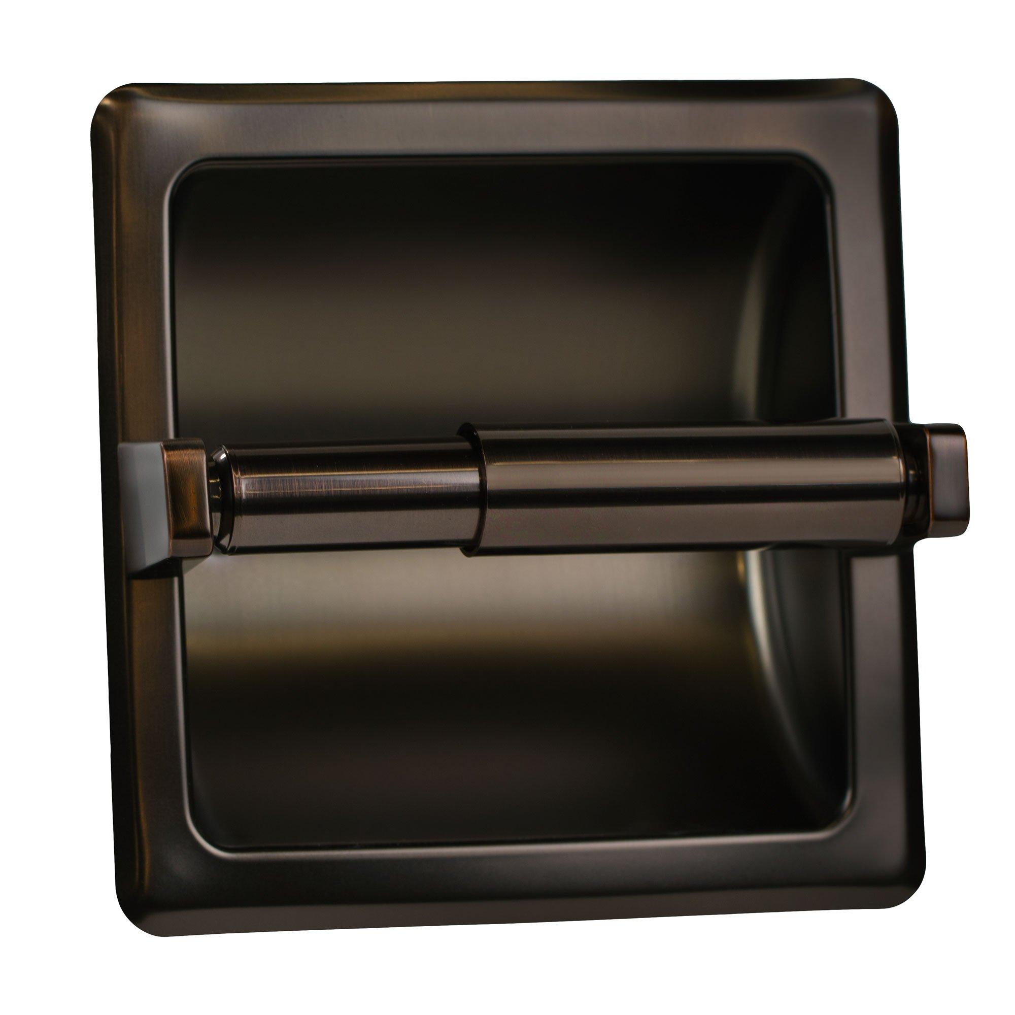 Classic Oil Rubbed Bronze Recessed Toilet Paper Tissue Holder