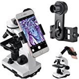 Gosky Microscope Lens Adapter, Microscope Smartphone Camera Adaptor - for Microscope Eyepiece Tube 23.2mm, Built-in WF 16mm E