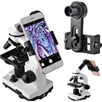 Gosky Microscope Lens Adapter, Microscope Smartphone Camera Adaptor - for Microscope Eyepiece Tube 23.2mm, Built-in WF 16mm Eyepiece - Capture and Record The Beauty in The Micro World