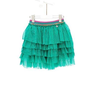 Mim-Pi - Falda - enaguas - Básico - para niña verde 8 años ...