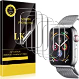 LK [6 Pack] Screen Protector Compatible with Apple Watch 44mm Series 6/SE/5/4 [Model NO.KO4721] [Japanese Material…