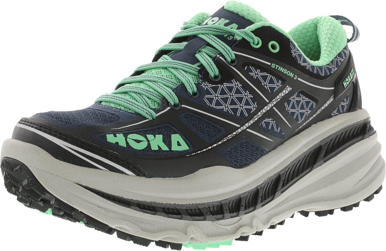 HOKA ONE ONE Women's Stinson 3 ATR Trail Running Shoe B01H6A89A4 5 B(M) US Midnight Navy / Spring Bud