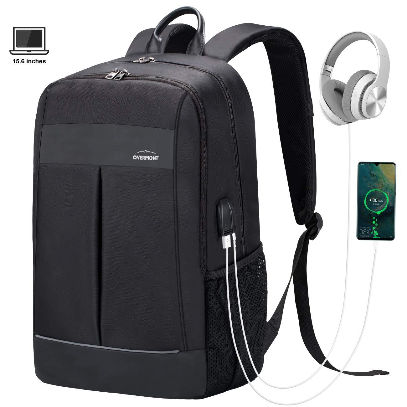 Overmont Zaino Portatile per Laptop PC Borsa Antifurto fino a 15,6