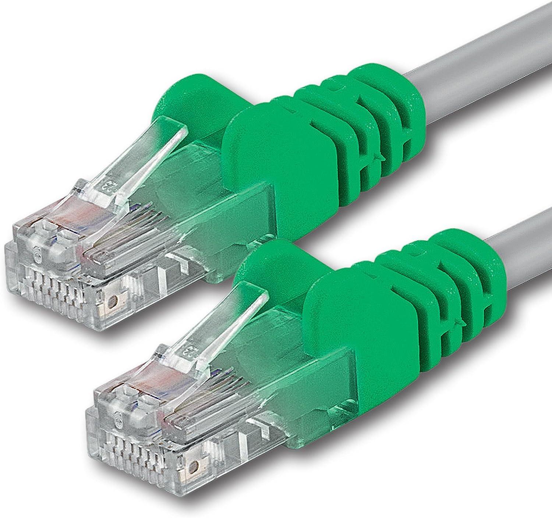 0,25m 1 Pieza Crossover Cable de Red Ethernet con Conectores RJ45 CAT6 Cat 6 Cat.6 1000 Mbit//s