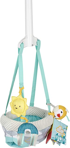 Exersaucer Door Jumper with 4 Removable Toys, Sweet Skies
