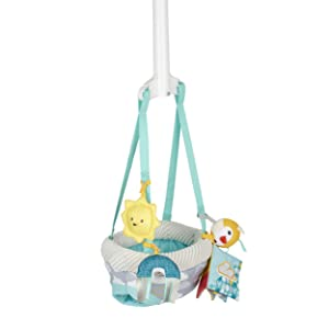 Evenflo Door Jumper with 4 Removable Toys, Sweet Skies