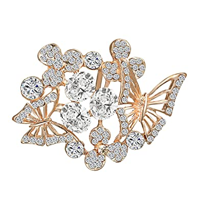 13513850f Amazon.com: Merdia Elegant Butterfly Brooches Pins Women [Jewelry ...