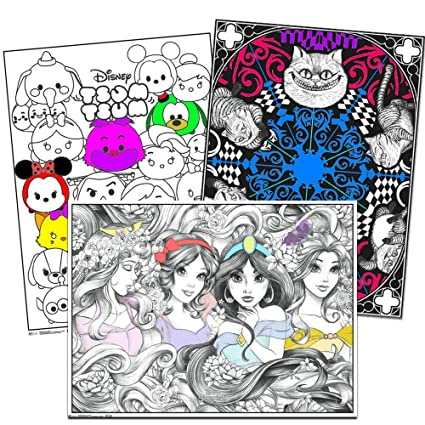 Disney Coloring Poster Set for Kids Adults -- 3 Giant Coloring Posters  Featuring Alice in Wonderland, Disney Princess and More (18\