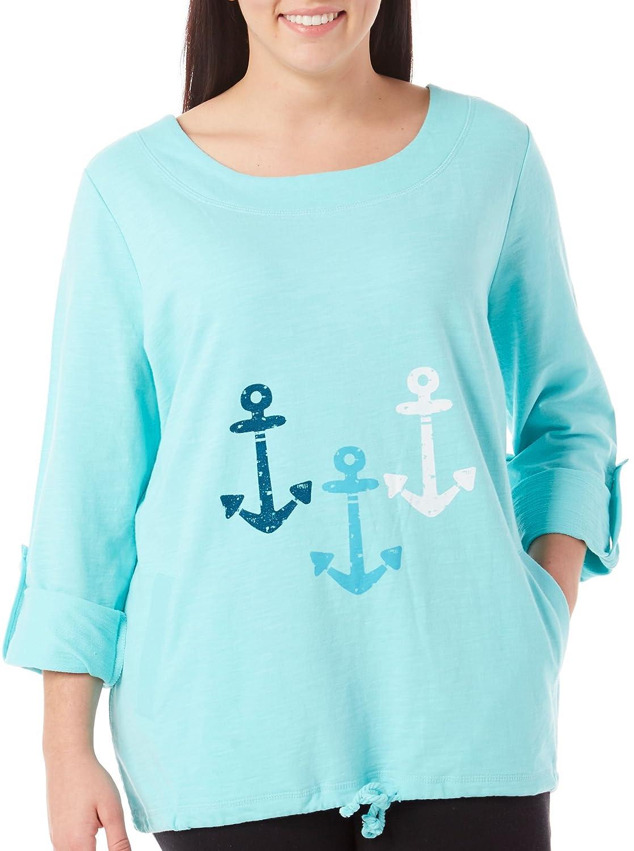SunBay Plus Beach Anchor Trio Pullover Top