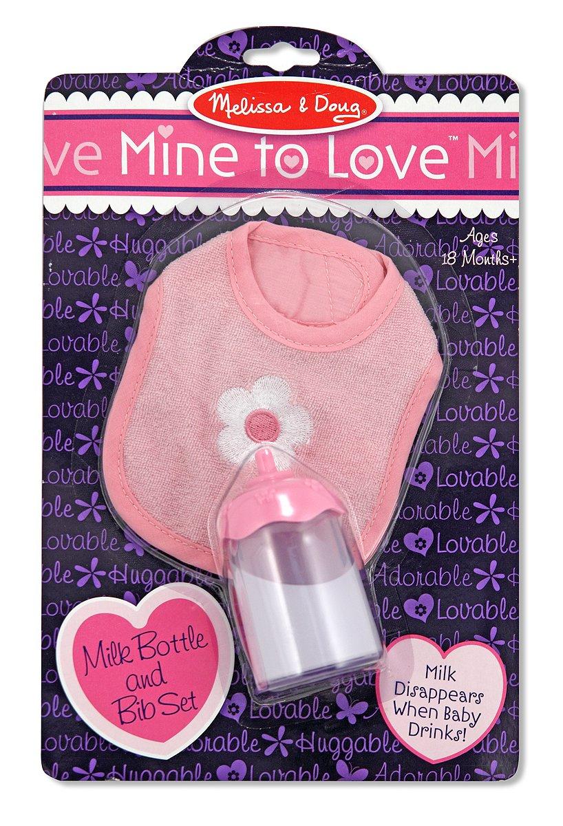 Melissa & Doug Mine to Love Disappearing Liquid Milk Bottle and Bib for Dolls Melissa and Doug 14894