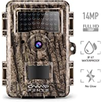 "CampFENSE Wildkamera Fotofalle 14MP 1080P Full HD 2.4"" LCD, Wasserdichte IP67 Trigger Time<0.3s 940nm Nachtsicht wildtierkamera für Outdoor-Natur, Garten, Haussicherheitsüberwachung"