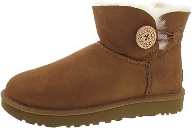 4c2ead3681 UGG Mini Bailey Button II Boots braun: Amazon.de: Schuhe & Handtaschen