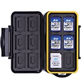 HDE Waterproof Memory Card Travel Case for 12 Micro & Standard SD Card Storage Holder
