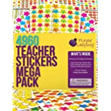 Purple Ladybug Teacher Stickers For Kids Mega Value Pack - 4960 Reward Stickers for Teachers & Incentive Stickers Sheets in B