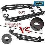 EAG Rock Sliders Fit for 07-18 Jeep Wrangler JK 4